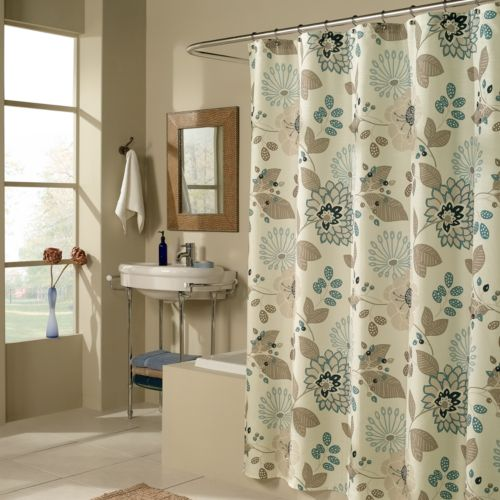 M. Style Morgan Floral Fabric Shower Curtain
