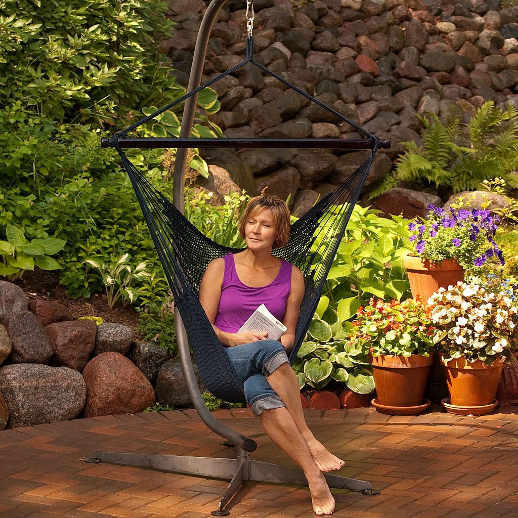 Algoma Woven Rope Outdoor Hanging Hammock Chair