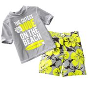 OshKosh B'gosh Cutest Dude Rash Guard and Swim Trunks Set - Toddler