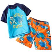 OshKosh B'gosh Little Dude Rash Guard and Swim Trunks Set - Toddler