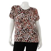 Dana Buchman Printed Cowlneck Top - Women's Plus