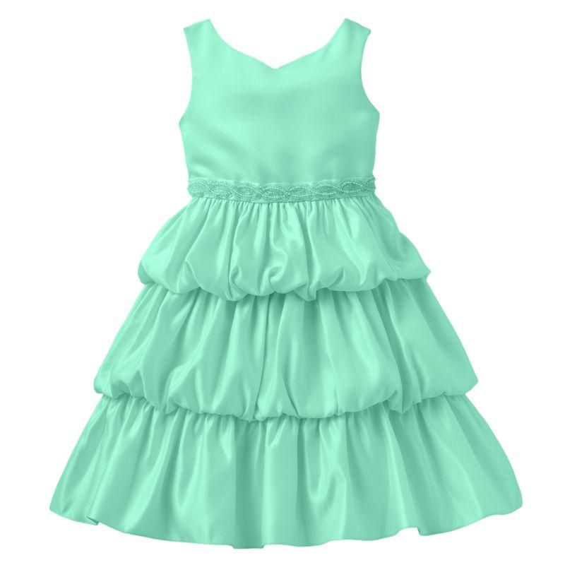 Princess faith tiered dress girls