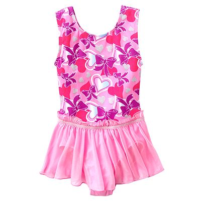 Jacques Moret Heart and Bow Skirted Dance Leotard - Girls