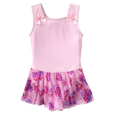 Jacques Moret Heart Skirted Dance Leotard - Girls
