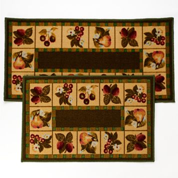 Fruit 2-pc. Kitchen Rug Set