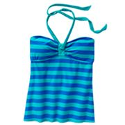 Candie's Striped Halterkini Top