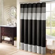 Madison Park Infinity Striped Fabric Shower Curtain