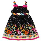 Youngland Smocked Floral Sundress - Toddler