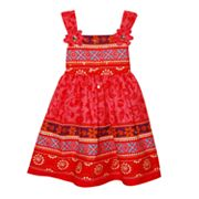 Blueberi Boulevard Floral Geometric Sundress - Toddler