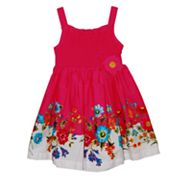 Blueberi Boulevard Smocked Floral Sundress - Toddler