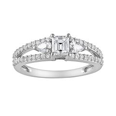 14k White Gold 1 Carat T.W. Diamond Engagement Ring