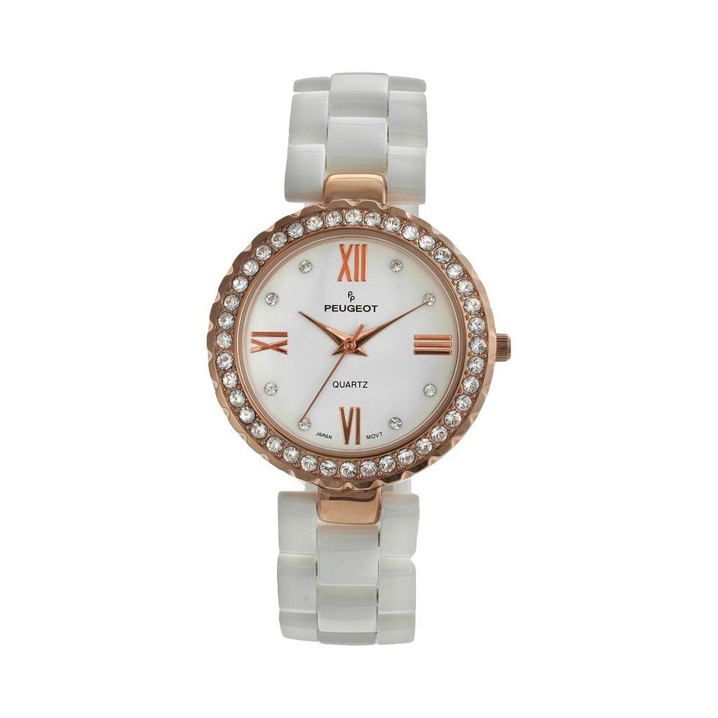 Peugeot Women's Crystal Ceramic Watch - 7078WRG