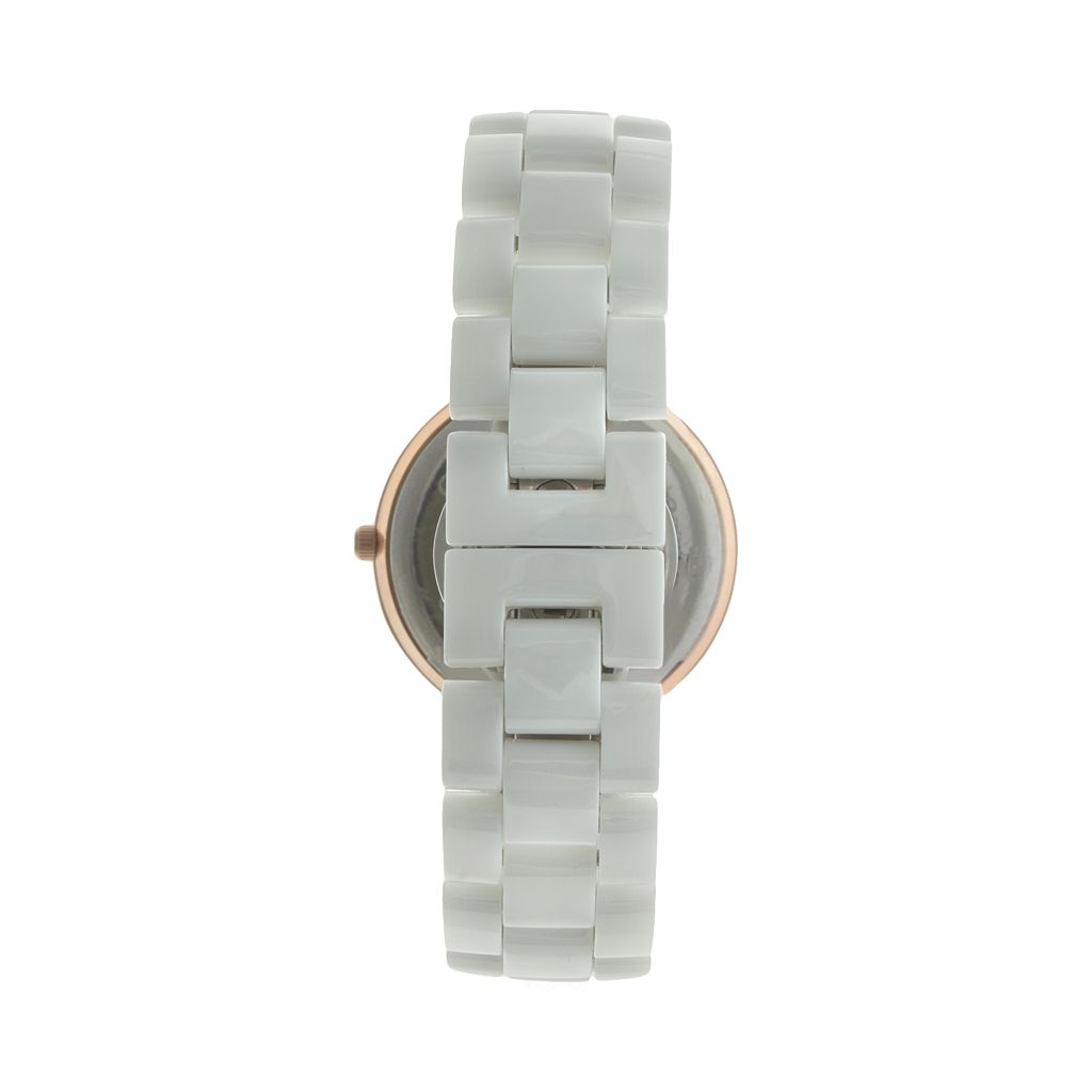 Peugeot Women's Crystal Ceramic Watch - 7078WRG