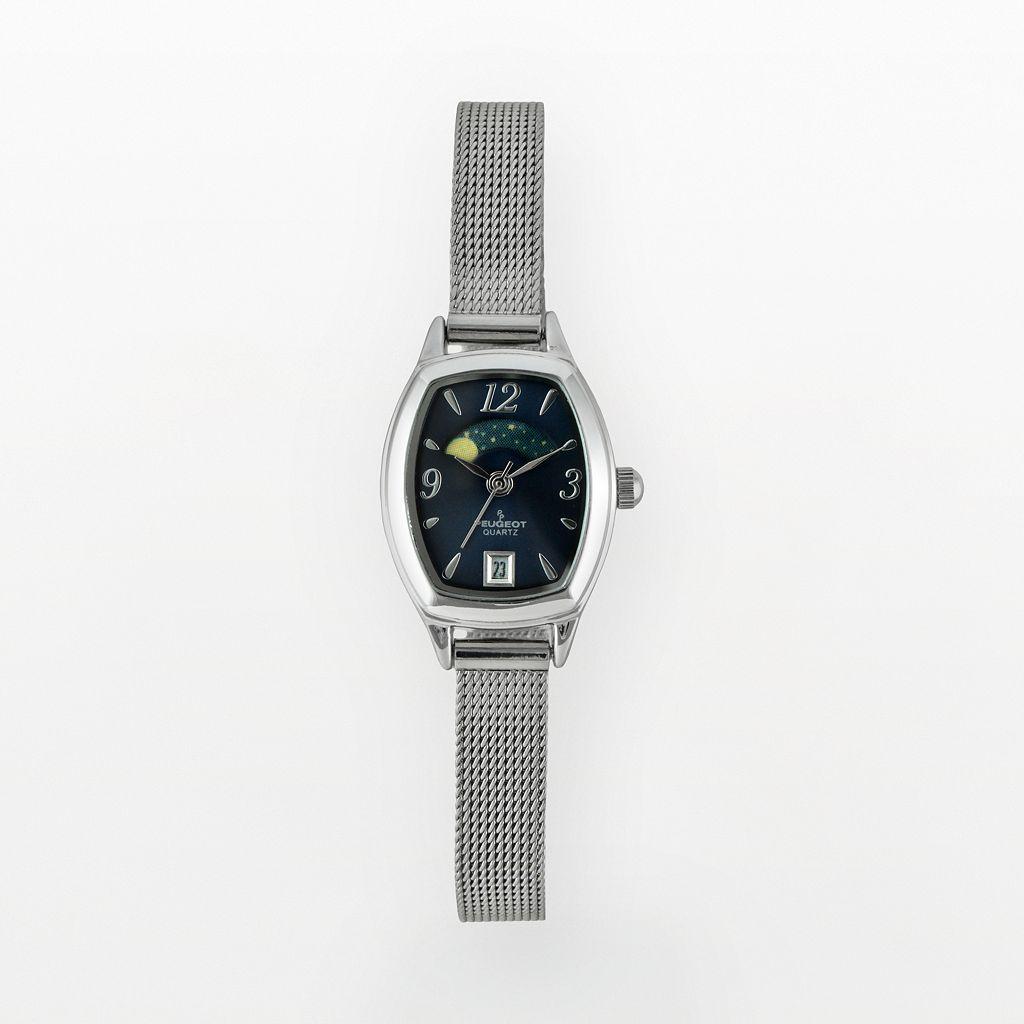 Peugeot Women's Mesh Moon Phase Watch - 712BL