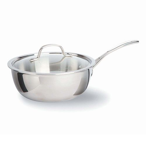 Calphalon Tri Ply Stainless Steel 3 Qt Covered Chef S Pan