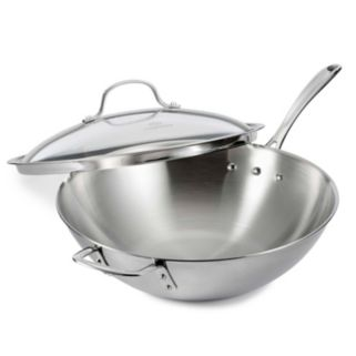 Calphalon Tri-Ply Stainless Steel 12-in. Covered Wok