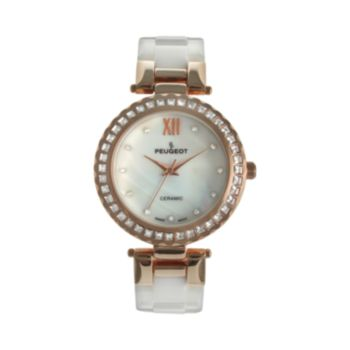 Peugeot Women's Crystal Ceramic Watch - PS4881RG