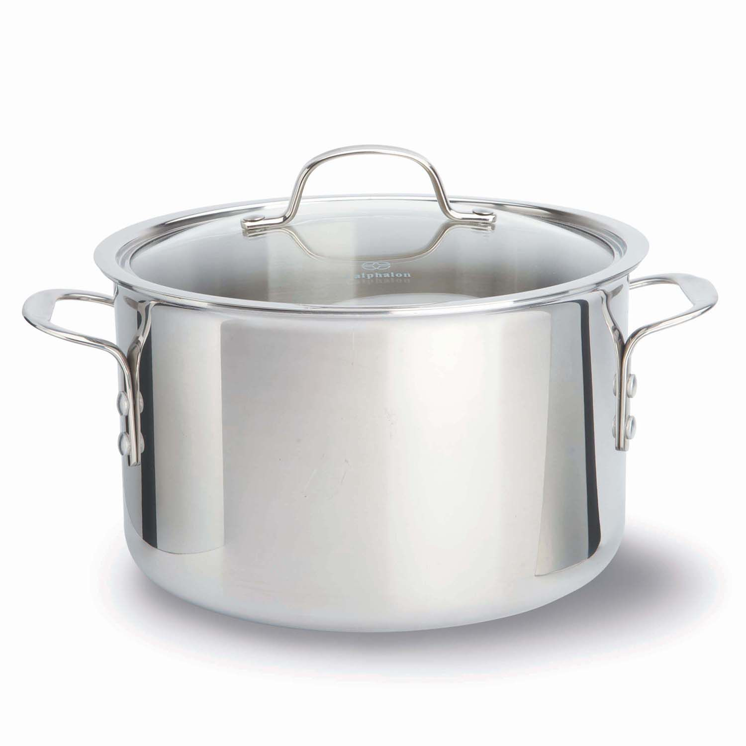 calphalon triply stainless steel 8qt covered stockpot