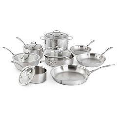 Calphalon Tri-Ply Stainless Steel 13 pc Cookware Set