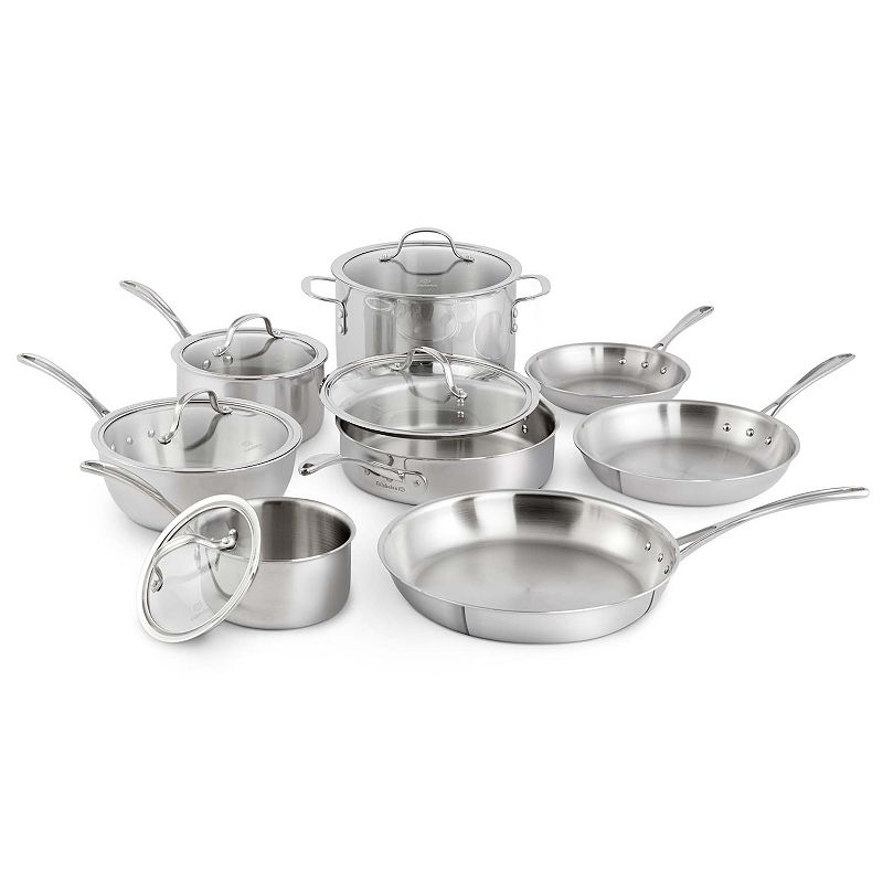 Calphalon Tri-Ply Stainless Steel 13-pc. Cookware Set (Grey)