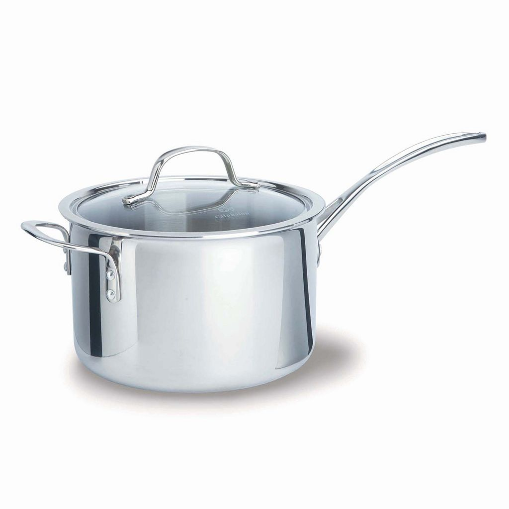 Calphalon Tri-Ply Stainless Steel 4.5-qt. Covered Saucepan