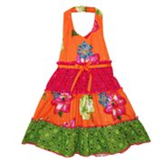 Blueberi Boulevard Floral Sequined Sundress - Toddler