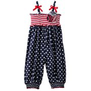 Bonnie Jean Stars and Stripes Romper - Toddler
