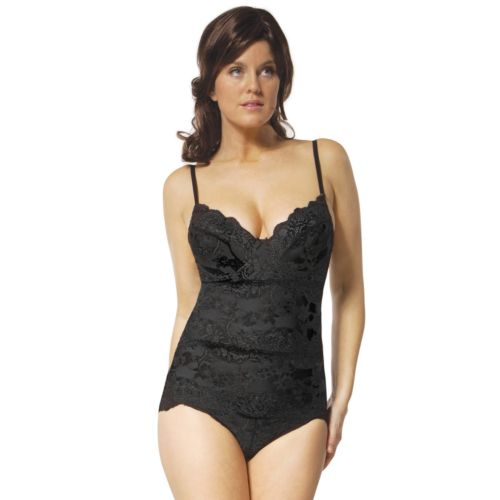 Skinnygirl Show Don't Tell Alluring Lace Shaping Bodysuit 7931 - Women's