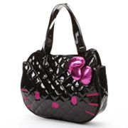 Hello Kitty Patent Quilted Face Tote