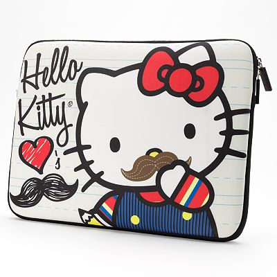 Hello Kitty Mustache Laptop Case