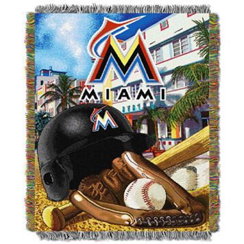 Miami Marlins Tapestry Throw by Northwest