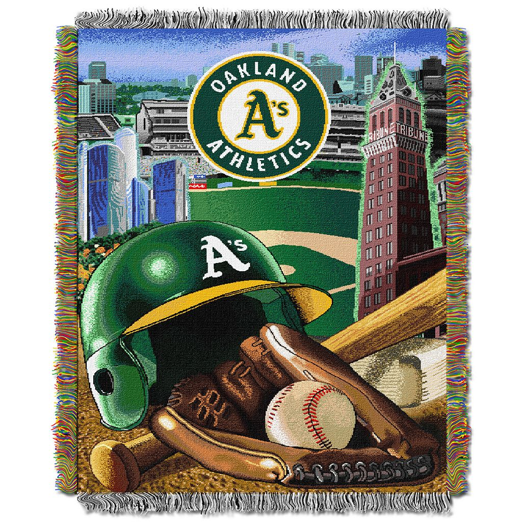 Oakland Athletics Tapestry Throw by Northwest