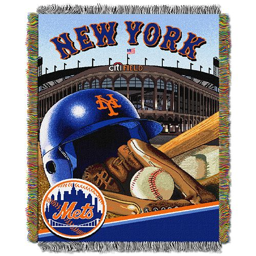 New York Mets Tapestry Throw by Northwest