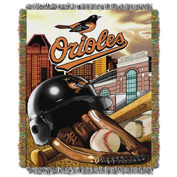Baltimore Orioles Tapestry Throw by Northwest