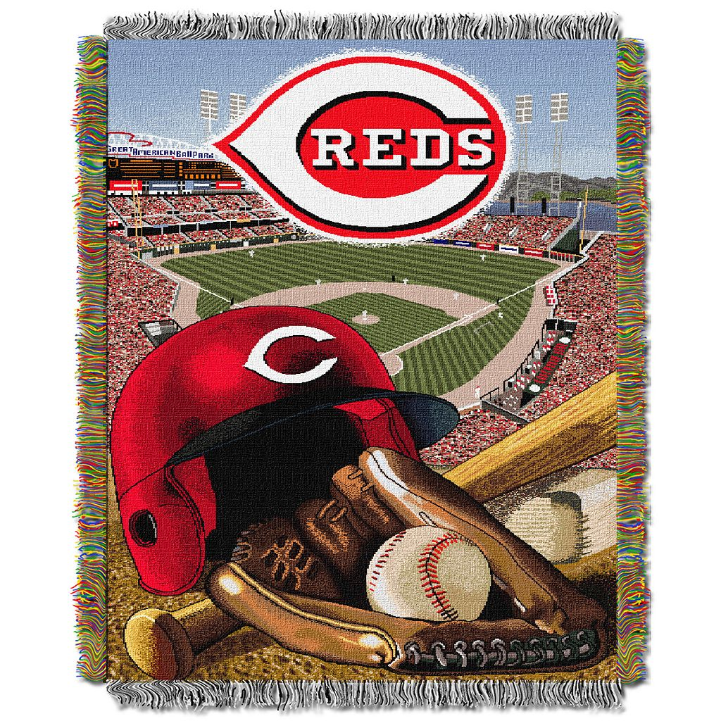Cincinnati Reds Tapestry Throw by Northwest