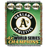 Oakland Athletics Commemorative Throw by Northwest