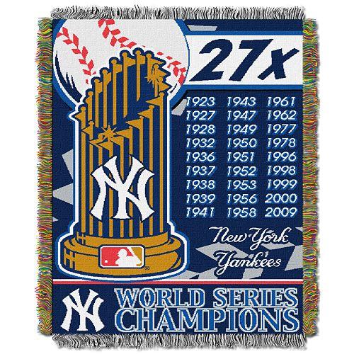 New York Yankees Commemorative Throw by Northwest