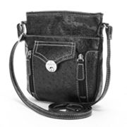 Rosetti Heidi Ostrich Mini Crossbody Bag