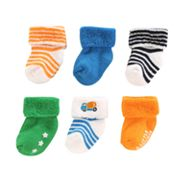 Jumping Beans 6-pk. French Terry Roll-Cuff Socks - Baby