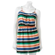 Crimson Coast Striped Sleeveless Dress - Juniors