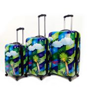 Heys USA Luggage, Feng Shui Palm Trees 3-pc. Hardside Spinner Luggage Set