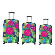 Heys USA Luggage, Feng Shui Flowers 3-pc. Hardside Spinner Luggage Set