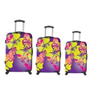 Heys USA Luggage, Butterflies Rainbow 3-pc. Hardside Spinner Luggage Set