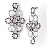 Simply Vera Vera Wang Silver Tone Simulated Crystal Kite Earrings
