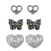 FlipOut 3-pk. Peace and Love, Butterfly and Happy Heart Charm Set