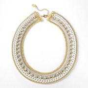 Simply Vera Vera Wang Gold Tone Simulated Crystal Multistrand Necklace