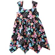 Bonnie Jean Butterfly Handkerchief Sundress - Toddler