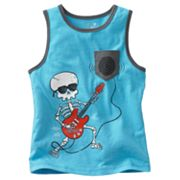 Jumping Beans Skeleton Pocket Tank - Toddler