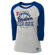 adidas Boston Red Sox Raglan Tee - Girls 7-16