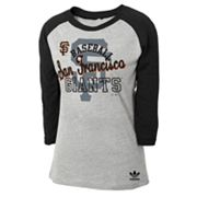 adidas San Francisco Giants Raglan Tee - Girls 7-16